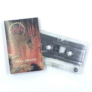 SLAYER Hell Awaits Cassette Tape 1988 Thrash Speed Metal Rare
