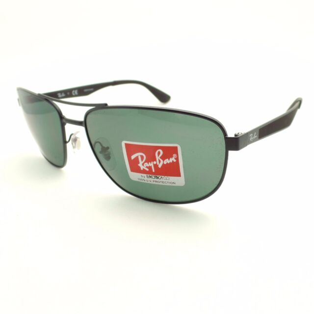 8dd27b145ed70 Ray-Ban Rb3528 006 71 Black Frame Green Classic 61mm Lens Sunglasses ...