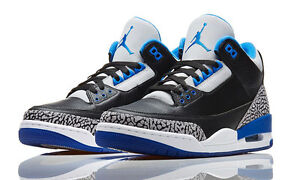 5739fb08b00 Nike Air Jordan 3 III Retro Sport Blue Cement size 11. 136064-007 1 ...