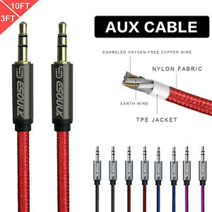 Aux-Cable-3-5mm-Male-to-Male-Auxiliary-Audio-Nylon-Braided-Cord-for-Car-PC-Phone