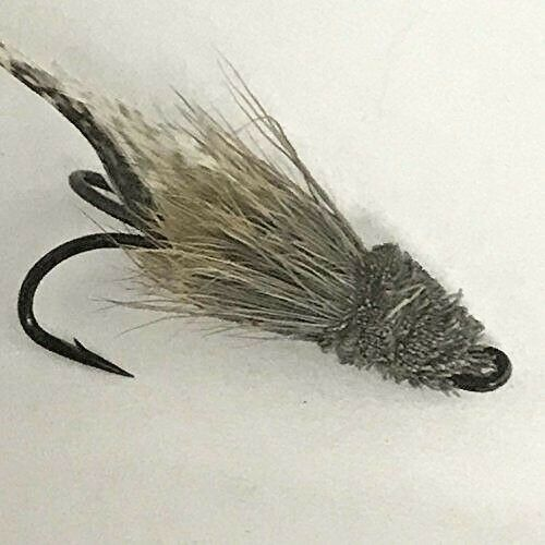 PESCA a mosca Salmone Doppio Argento imbroglione Taglia 2 Confezione da sei MOSCHE Pack #DR2