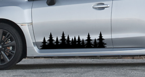 sticker outdoors Fits subaru impreza forester Forest tree side decal graphics