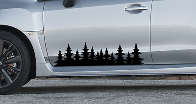 sticker outdoors subaru impreza forester Forest tree side decal graphics