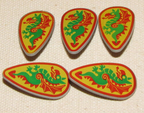 LEGO LOT OF 5 LARGE CASTLE DRAGON KNIGHT SHIELDS