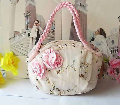 NEW orchid print 100% cotton women change purse fashion grils wallet Wristlet