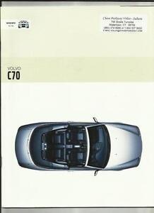 Ensoleillé Volvo C70 Brochure 2002 Marché Américain-afficher Le Titre D'origine