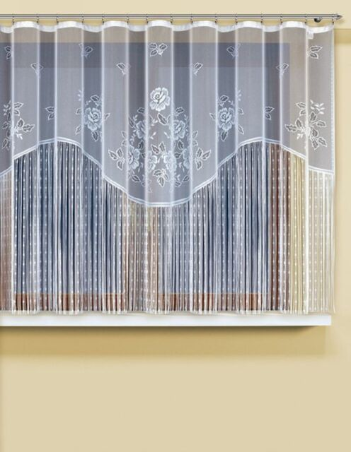 String net curtains ready to hang up WHITE 160x300(cm) with curtain tape!