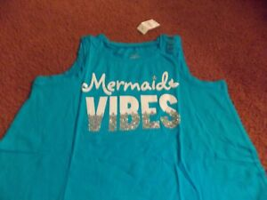 Details about justice - girls size 10/12 plus Swingy Tank-mermaid vibes-nwt