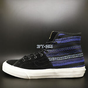 64d6ea8cc1 Vans Sk8 Hi-Decon SPT CA Italian Weave Blue Black MENS SKATE SHOES ...