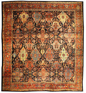Image Is Loading Oversized Antique Persian Bidjar Rug Size Adjusted BB0688
