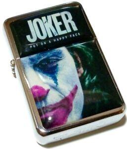 THE-JOKER-2019-Movie-Film-Smoking-Cigarette-Silver-Petrol-Lighter-Metal-Rock