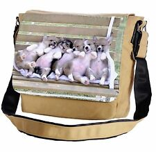 Welsh Corgis Sitting On A Bench Messenger Cross-Body Shoulder Flap Bag
