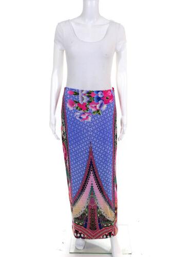 Camilla Womens Abstract Printed Long Maxi Skirt Pi