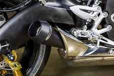 Black GP Slip On Exhaust M4 SU9212-GP 2016 Suzuki GSXS1000/F