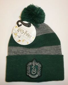 43f25589819e6 Slytherin - Harry Potter Cuff Pom Beanie Hat Winter Warm Cosplay ...