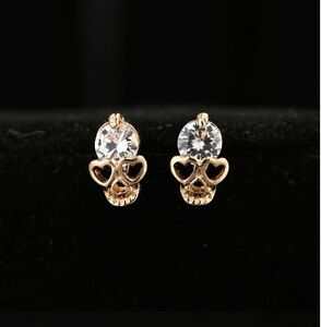 Image Is Loading Women 039 S Trendy Gold Plated Crystal Hearts