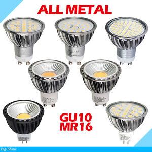 4x-10x-4W-5W-6W-7W-GU10-MR16-SMD-COB-Lampe-Dimmable-LED-Ampoule-Lampe-metallique