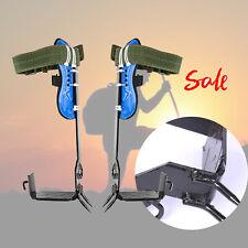 New 2 Gear Tree Climbing Spike Set Safety Belt Adjustable Rope Rescue Safe Belt