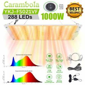 Full Spectrum 1000W LED Grow Light 2'x2' Dual Switch for Indoor Plant Veg Flower
