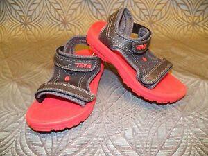 New Kids Teva Psyclone 3 Pink Purple Strap Beach Play Water Sandals Toddler Shoe