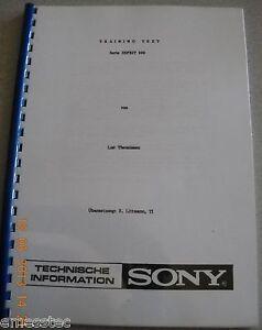 SONY TA-N900 TA-E900 TA-D900 SE-P900 Training Text, Schaltungsbeschreibung