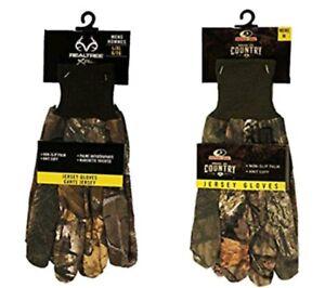 Mossy Oak Breakup Pays & Realtree XTRA Homme Jersey Antidérapant Gants- M-XL-afficher le titre d`origine n32xBeKc-07150247-164311135
