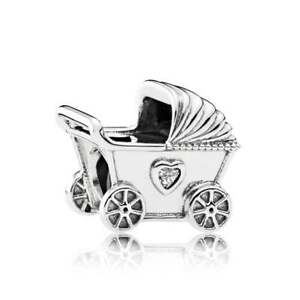 RETIRED-PANDORA-Baby-Pram-Sterling-Silver-Charm-792102CZ-RRP-49