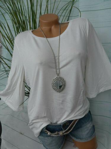 031 Esprit Shirt Damen Vollant Arm Gr NEU S bis XL weiß Ton