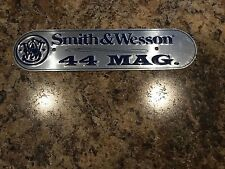 SMITH WESSON TIN Aluminum Gun SIGN Plaque Ammo Tag 44 Mag. Magnum Rifle Pistol