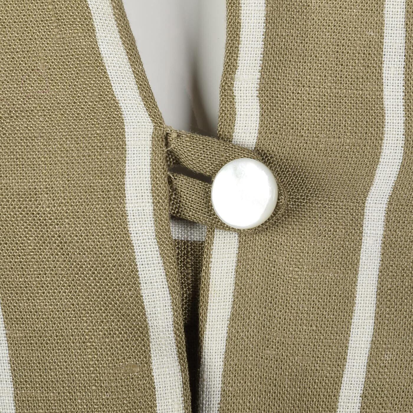 L Vintage 1980s 80s Pauline Trigere Striped Skirt… - image 12