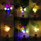 US Plug Fashion Flower Mushroom LED Night Light Sensor Baby Bed Room Lamp Decor