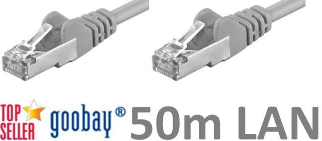 50m Netzwerk Kabel DSL LAN Patch Cable Cat5e NEU&OVP