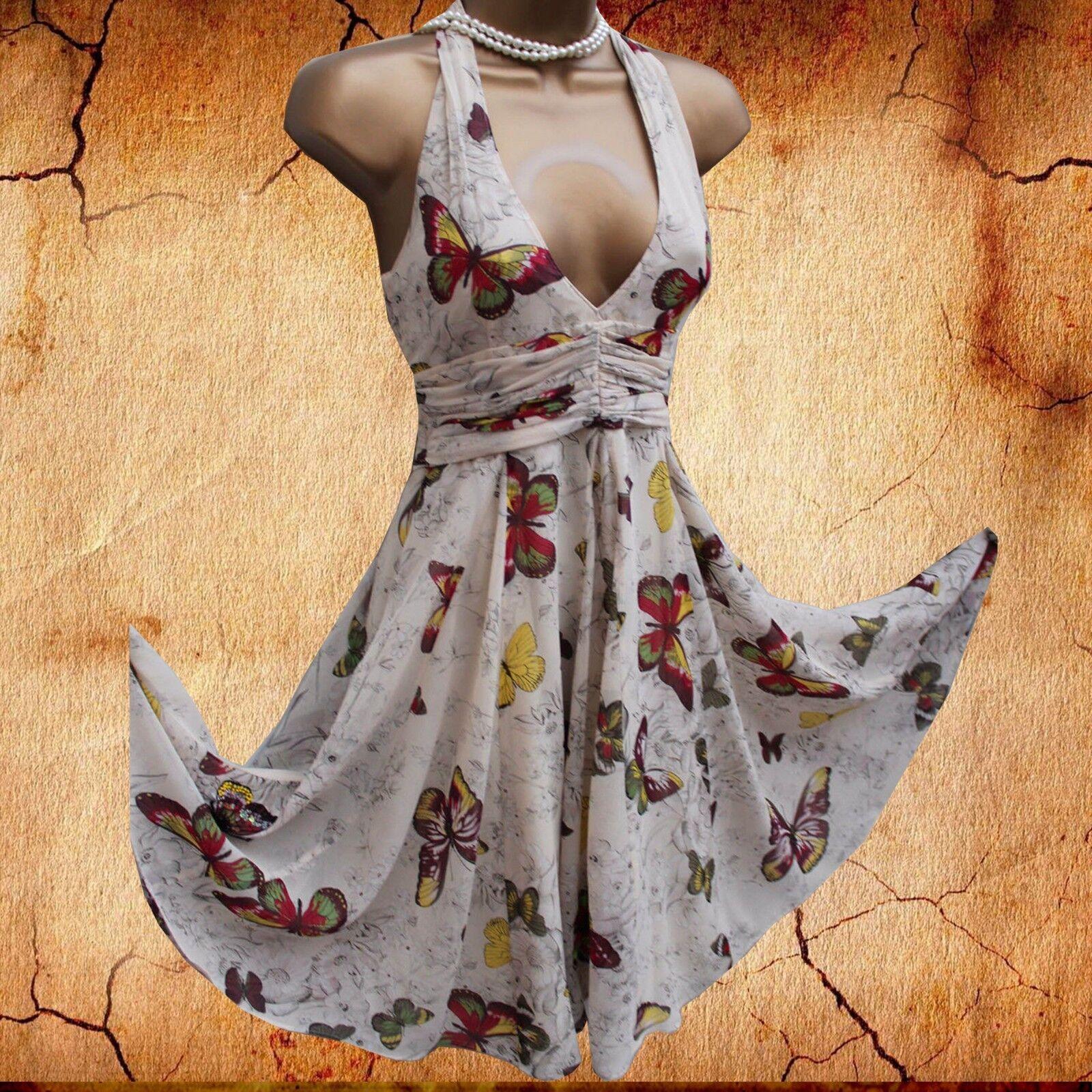 KAREN MILLEN Cream Butterfly Beaded Detail Silk Floaty Grecian Party Dress 10 UK