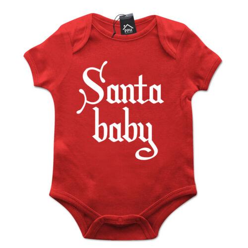 Santa baby drôle babygrow cadeau de noël baby grow costume présent nouveau-né idée B5
