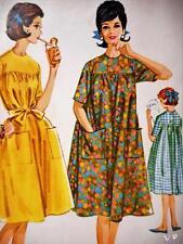 Uncut 1960s VTG Mccalls 6056 MUMU Retro Duster Dress Miss Sewing Pattern Size 16