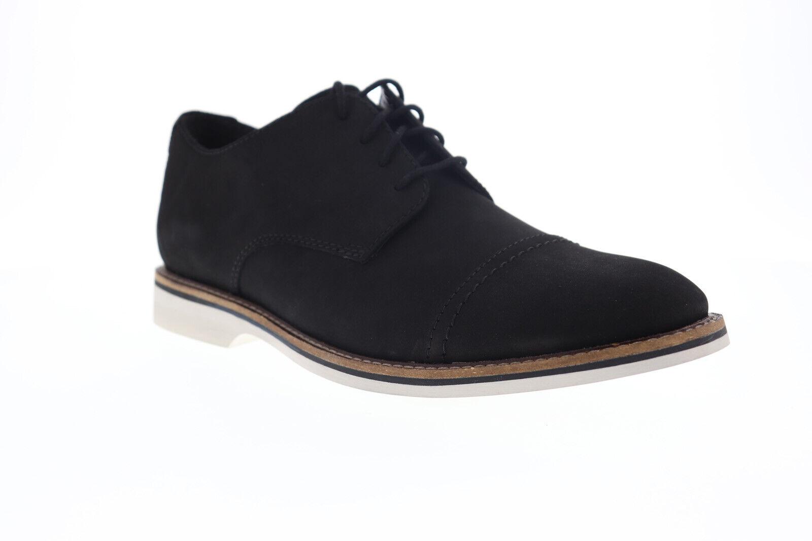 Clarks Mens James Cap - Black Leather 9