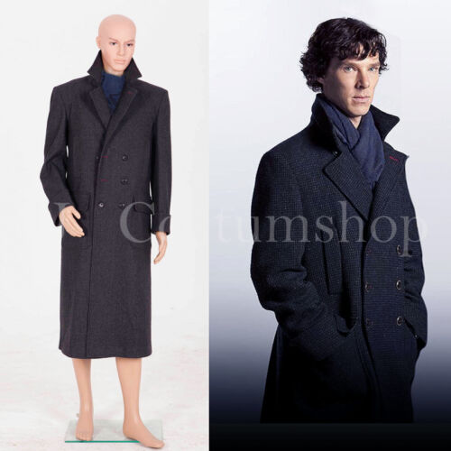 Sherlock Holmes Cape Coat Costume Wool Version  /<Custom Made/>