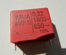 2 X WIMA MKP 10  Kondensator Polypropylen 0,22µF-1600- 650~ 220nF Rm 27,5mm MwSt