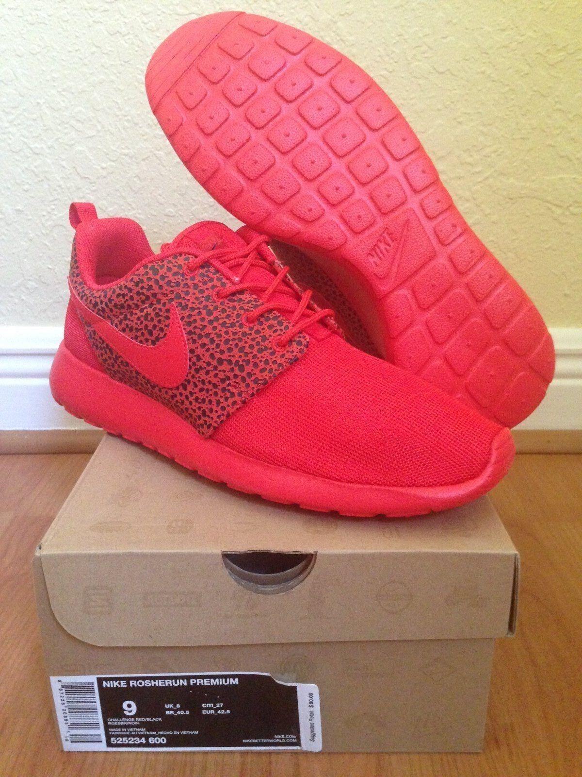 Nike roshe lauf premium - safari pack rot - herausforderung rot pack - sz - 9 - neue ds - frei schiff 31dfca