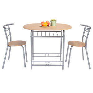 pcs table chairs set kitchen furniture pub home restaurant dining set