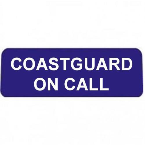 COASTGUARD on call with White Text univisor Sign Sun visor