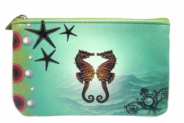 Lavishy Ocean Dream Mystic Ocean Creature Small Flat Pouch coin wallet