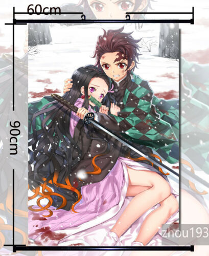 Kimetsu no Yaiba Kamado Nezuko Wall Scroll Poster Home Decor  60*90CM#0429