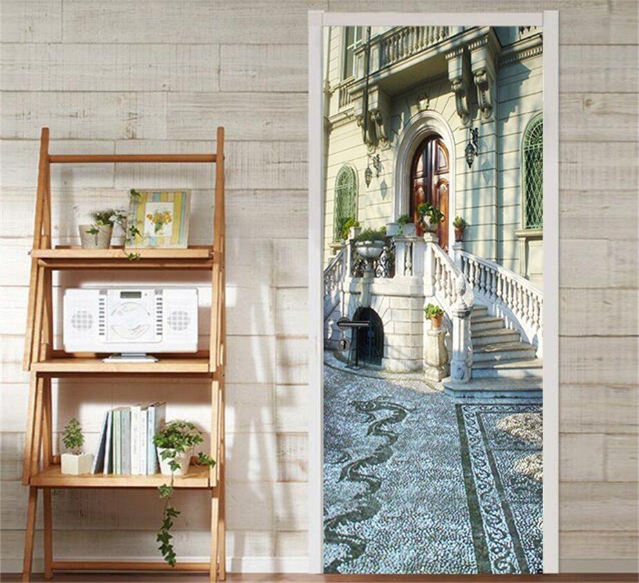 3D Straße Haus 9 Tür Wandmalerei Wandaufkleber Aufkleber AJ WALLPAPER DE Kyra    Qualität Produkt    Tragen-wider    Kaufen