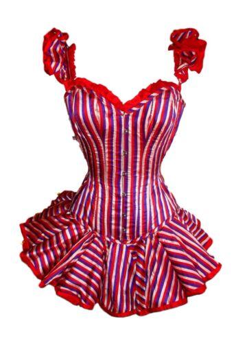 Burlesque Professional Costume Silk Stripe Size Sm