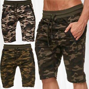 Pantalon-survetement-jogging-Camouflage-sport-Fitness-Stretch-Waistband-Shorts