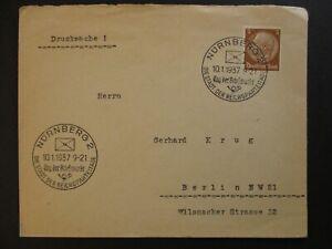 1937-Nuremberg-to-Berlin-Germany-Tag-der-Briefmarke-Stamp-Day-Cover