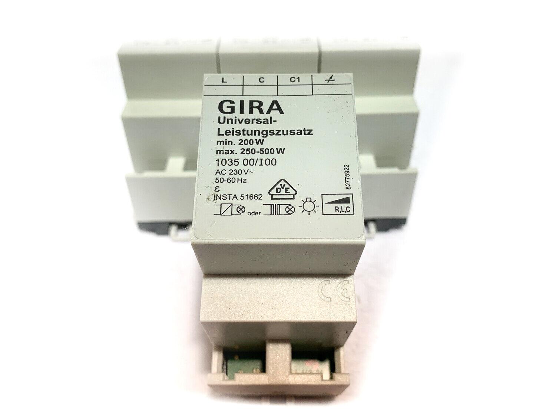Gira 103500   I00 Universal Leistungszusatz (200 - 500 W VA) | Neu