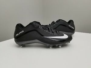 2de09a8774c NEW MENS NIKE ALPHA PRO 2 FOOTBALL CLEAT 719928-010 Black Silver ...