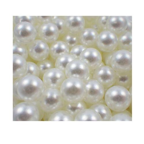 1000 Dekoperlen Dekokugeln Bastelperlen lose Perlen ohne Loch 8mm weiss